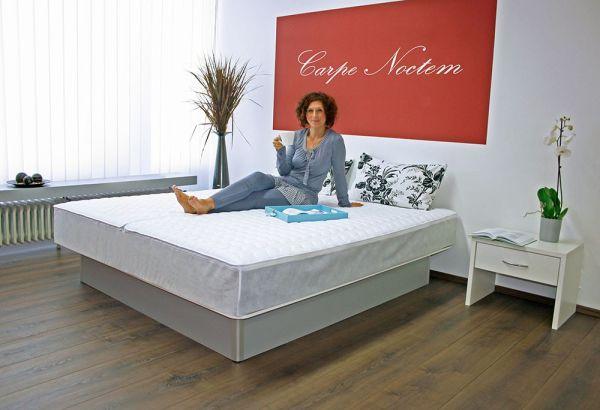 aquasphere Duo Wasserbett mit Unterbausockel, ca. 180 x 200 cm, silber, stark | Schlafzimmer > Betten > Wasserbetten | Aquasphere